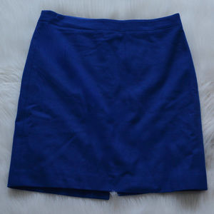 J Crew | The Pencil Skirt Double Serge Wool Blue